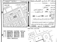 ارض صناعية 1000 متر مربع للبيع