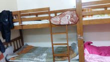 2 سرير خشبي بحالة جيدة