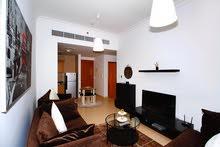 دبي بيزنس باي غرفة وصالة مفروشة سوبر لوكس مع بلكونة- ايجار شهري شامل