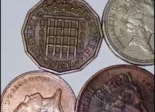 عملات الملكة الزبيث قديمة