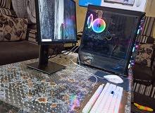 كمبيوتر قيمنق مع شاشة و كيبورد و ماوس و ماوس بات الموصفات بلوصف
