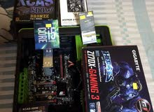 CPU & Motherboard overclock edition with RAM and cooler master cooler