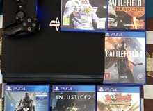 Ps4 pro 1 Tb with 1 controller and 6 games