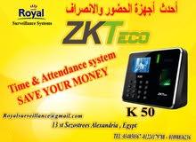 انظمة حضور وانصراف ماركة ZK Teco  موديل K50