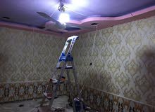 لمسه فن لعمل السقوف الثانويه وورق الجدران وصبغ الواجهات وصبغ الغرف