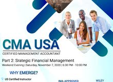 CMA Part 2 Weekend Evening Class starts on November 7, 2020
