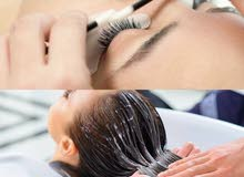 lash extensions, hair treatment, hair coloring