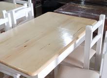 طاولة الطعام بالخشب الاحمر
