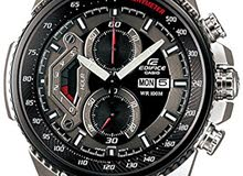 Casio Men's Silver Stainless-Steel Quartz Watch with Black Dial (135$)