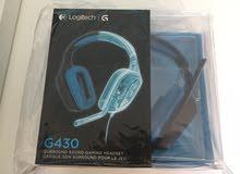 سماعة لوجيتيك G430 محيطية 7.1 جديدة
