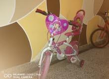 للبيع دراجة بناتية عجلتين و ثنتين اضافي