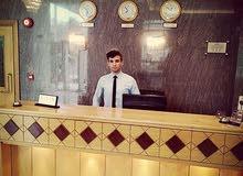 مطلوب موظفة استقبال لدى أجنحة فندقيه