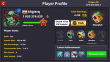 8ball pool account