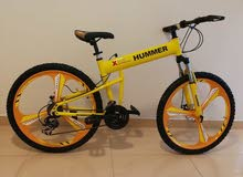 """Hummer RED 26"""" FOLDABLE BICYCLE - Alloy Wheels"""