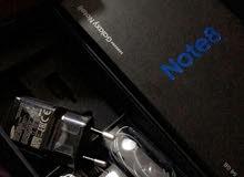 جالكسي نوت 8 بحالة الجديد مع كفالة BCI للبدل على ايفون X