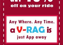 "Use Promo code ""VRAG40"" And get 40% off On your Ride."