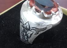 خاتم حجر الاكسندريت ( متغير الالوان)