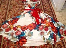 فستان سهرة للبيع مقاس 44 الي 46