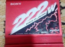 جهاز سستم امبيفير  نوع سوني sony ياباني الأصلي 222w مع أربع سماعات اصليه صوت قوي