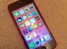 ايفون 5c وردي اللون بحاله ممتازة