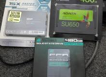6 هاردسكات نوع  SSD (500قيقا)جديد