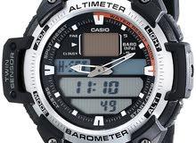 Casio SGW قياس الحرارة والضغط الجوى والارتفاع مقاومة للماء