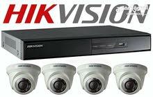 4 كاميرات hikvision فقط 85 دينار