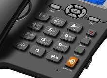 تليفون مكتبي دبل سيم كارد شحن يستقبل خطوط سيم كارد (اسياسيل، زين، كورك)