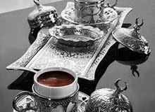 طقم فناجين قهوة تركي عثماني لشخصين