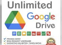 Google Drive Unlimited - مدى الحياة مع اختياراتك الخاصة باسم البريد الإلكتروني لاسم المستخدم