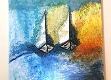 لوحات فنية اكريلك أو ألوان زيتية