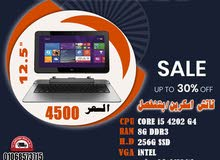 HP PRO X2 612 G1 برسيسور : CORE I5 4202 جيل رابع هارد :256 SSD M2