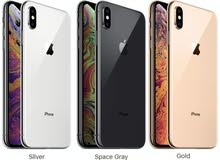 iphone xs max 256gb black gold white مع ضمان