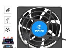 مبرد للاجهزه تي في بوكس  cooling fan usb for tv box