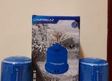 Campingaz Stove with 2 gas cylinders طباخة مع سلندرين غاز