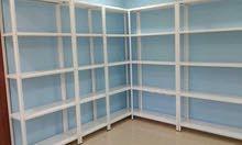 رفوف نوعية ممتازة للمحلات وغرف المونة rfouf. standستاندات
