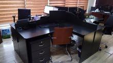 مكتب خشب لاتيه رباعي