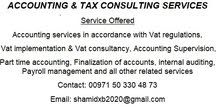 ACCOUNTING & TAX CONSULTING SERVICES