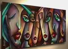 لوحه زيتيه من الفن التكعيبي الحديث