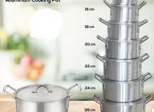 طقم طبخ بعدة قياسات