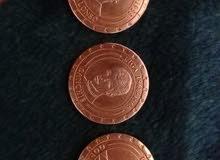 ثلاث قطع تذكارية لثلاث لاعبين ريال مدريد لبطولة LIGA لسنة 1954 _1968 _1988