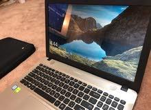 لاب توب ASUS بمعالج I5 الجيل السابع وبكرت شاشه 2 جيجا