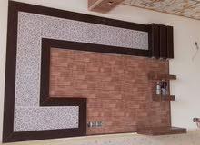 لأعمال الديكورات تغليف فلين جدار وسقف  وتغليف بلاستك والسقف الثانوي كافه انواع ا