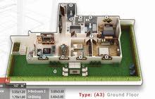 شقة 147م +حديقة 123م للبيع - التجمع الخامس