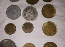 عملات مصريه متنوعه فئات قروش ومليمات
