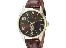 Original  U.S. Polo Assn. Classic Men's Watch. Brown
