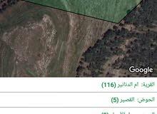 ارض 5665 م أم الدنانير عتلة كاشفة اطلالة بانوراما على عمان وضواحيها أو للبدل