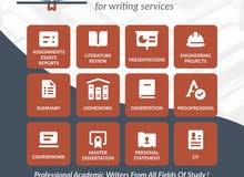 خدمات جامعيه لجميع التخصصات باللغه الإنجليزية فقط