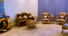 full living room set 7 seater with Mona Lisa console