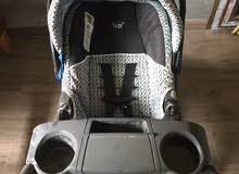 كروسة اطفال كندية+مقعد سيارة اطفال
